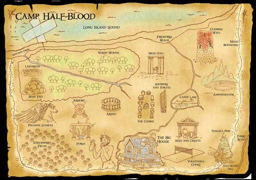 A Map of Camp Half-Blood – Rick Riordan