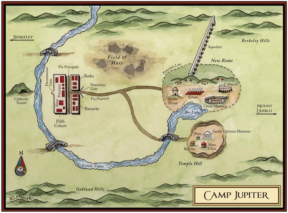 A Map of Camp Jupiter – Rick Riordan